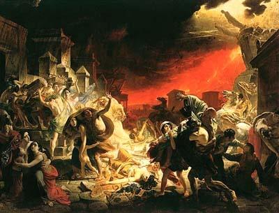 В Помпеях стало темно, как ночью