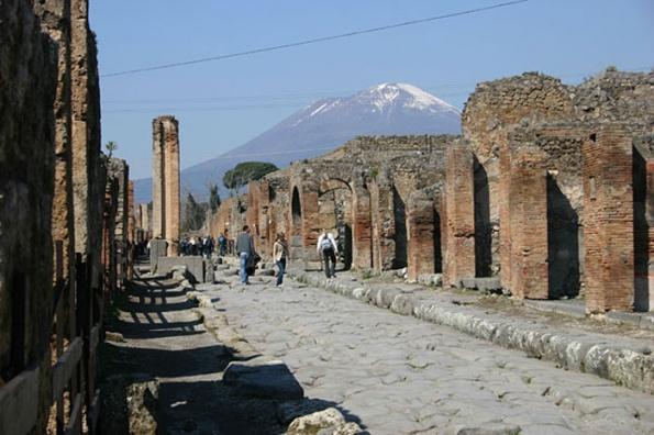 Помпеи расположены на юге Италии