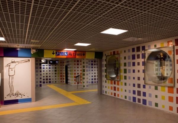 Неаполь метро - станция Montedonzelli