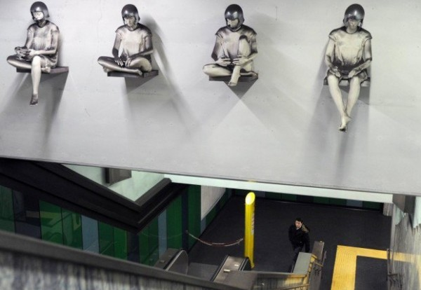 Неаполь метро - станция Quattro Giornate