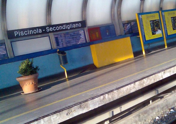 Неаполь метро - станция Piscinola