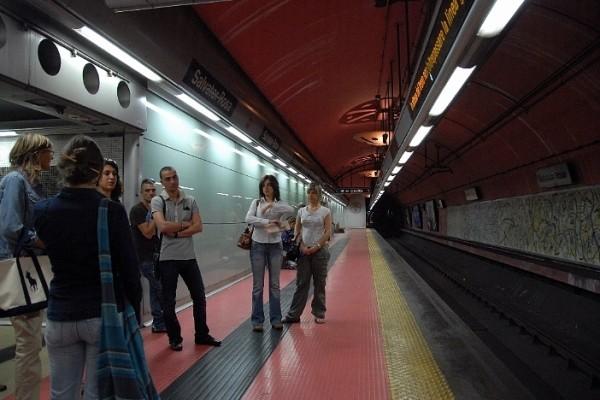 Неаполь метро - станция Сальвадора Розы в Неаполе (Salvator Rosa)