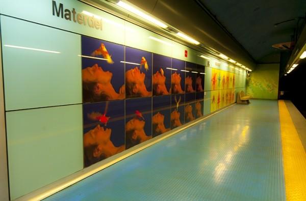 Неаполь метро - станция Матердей