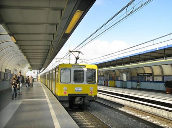 Неаполь метро - станция Frullone