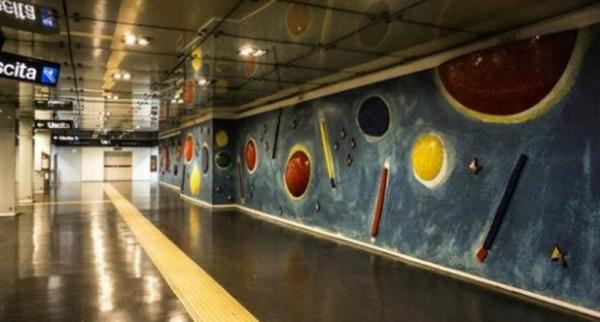 Неаполь метро - станция Данте