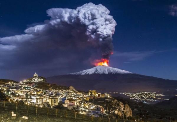 Недавно Этна побеспокоила местное население очередной попыткой извержения