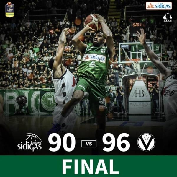 баскетбол: Сидигас Авеллино – Сегафредо Виртус Болонья 90:96