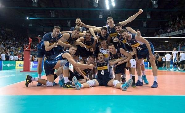 Сложный матч против сборной Аргентины итальянские волейболисты выиграл