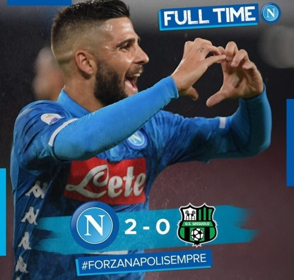 Футбол, Серия А, Наполи – Сассуоло 2:0