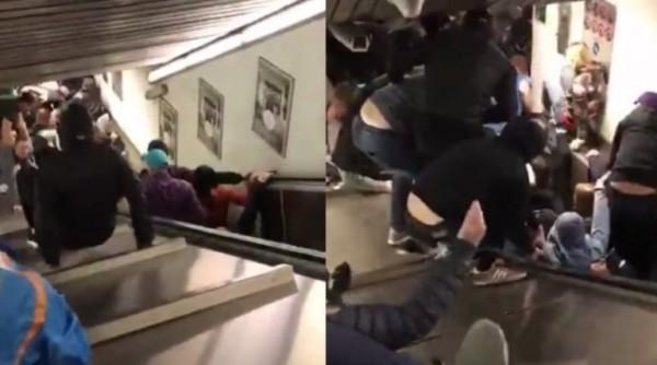 Рим: В столиччм метро обрушился эскалатор, пострадали фанаты ЦСКА