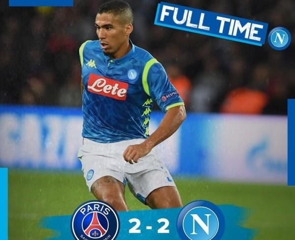 Наполи, футбол, Лига чемпионов: ПСЖ – Наполи 2:2