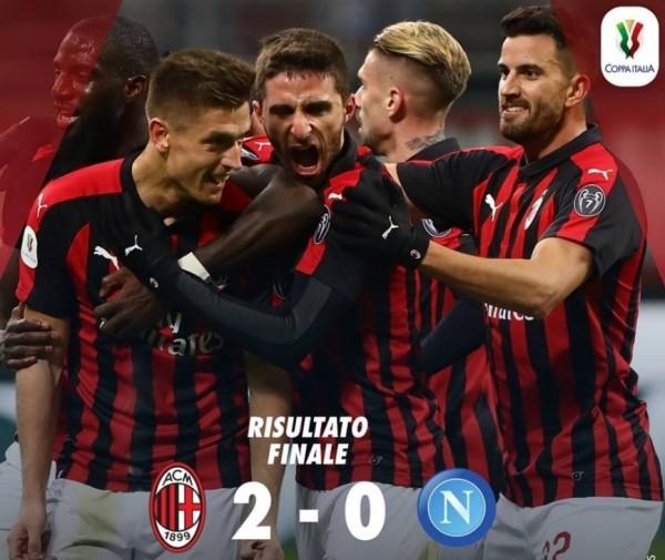 футбол, Кубок �талии: Милан – Наполи 2:0
