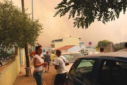 Пожары происходят в районе коммуны Галлура на о.Сардиния