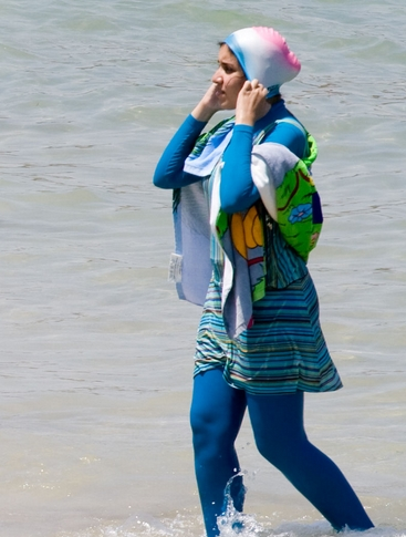 буркини - купальный костюм для мусульманских женщин