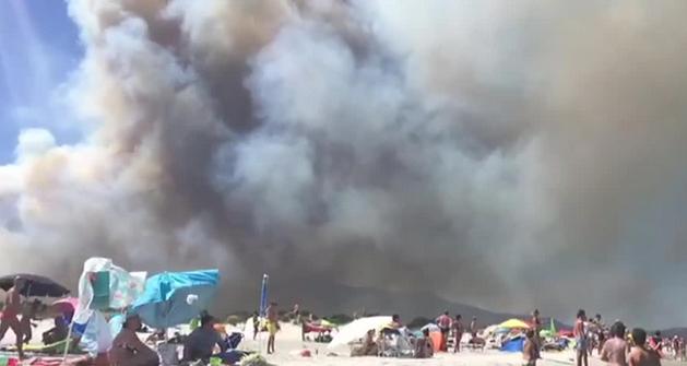 Первое возгорание произошло вчера в 14:30 в Сан-Теодоро