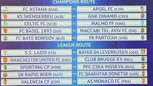 Стартовал очередной еврокубковый футбольный сезон