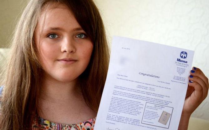 Школьница Николь Барр может гордится тем, что она в свои 12 лет стала одной из самых умных жителей планеты