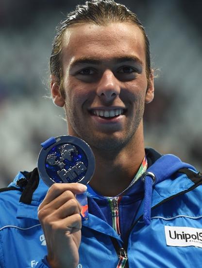 серебряную награду завоевал надежда итальянского плавания на будущие годы, 20-летний выходец из Карпи, Грегорио Пальтриньери
