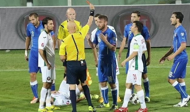Футбол, Италия – Болгария