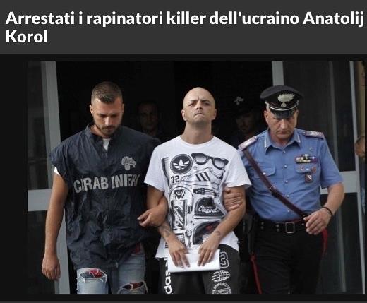 Неаполь. Задержаны два человека по делу об убийстве иммигранта-героя Анатолия Короля