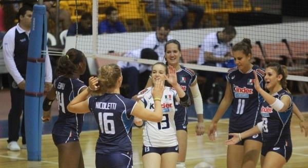 У девушек Under-20, чей чемпионат проходит в Пуэрто-Рико, итальянки разгромили сборную Египта