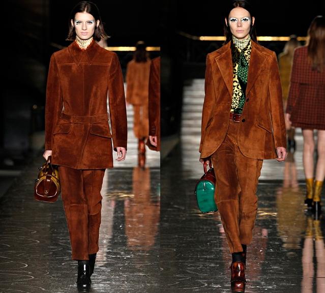 Как только в моду вернулись тенденции 70-х годов, подиумы заполонили наряды из замши