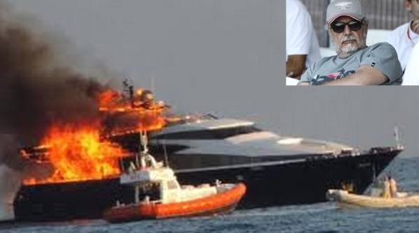 Председатель ФК Наполи бежал с горящей яхты