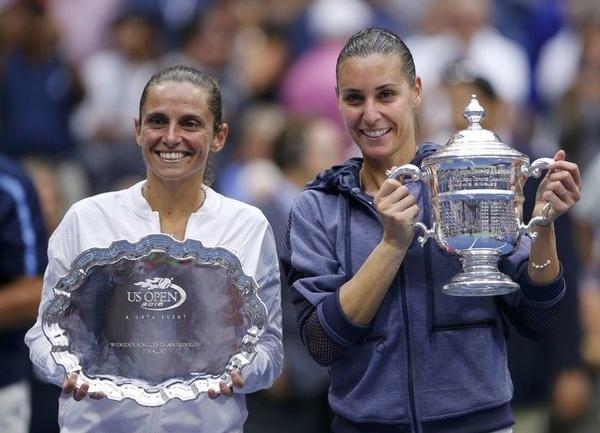 теннис - Флавия Пеннетта и Роберта Винчи, еще до начала финального поединка, установили рекорд Открытой эры