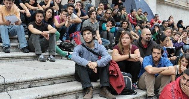 Молодые итальянцы без надежды и без работы