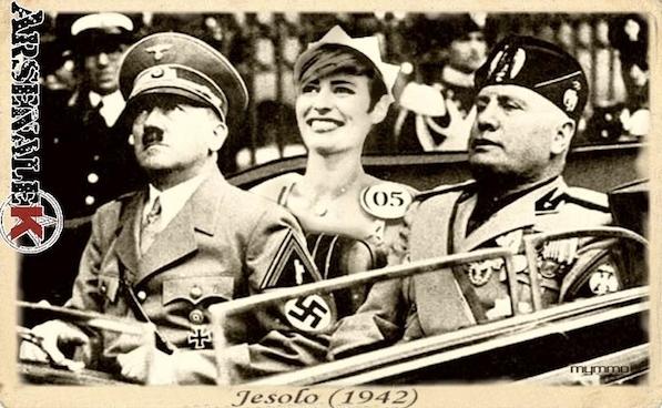 Аличе изображена на фотографиях рядом с Гитлером