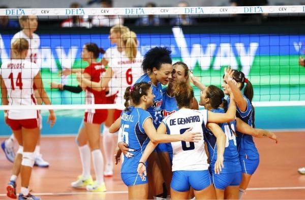 Удачный старт итальянских девушек на европейском чемпионате