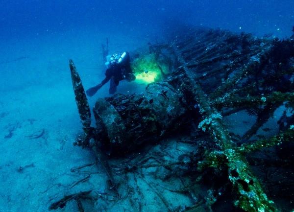 Обломки самолета Второй мировой войны найдены в море возле Палермо