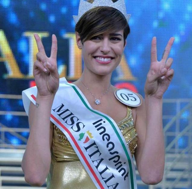 Победительница конкурса Мисс Италия-2015 Аличе Сабатини