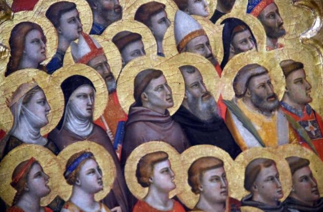 Выставка росписи итальянского художника Giotto di Bondone