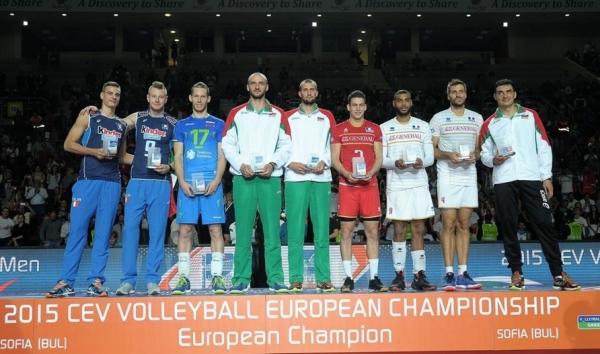 В сборной «всех звезд» чемпионата Европы два итальянских волейболиста