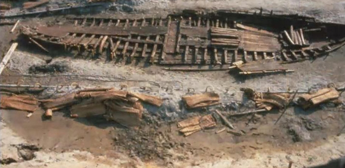 Итальянские археологи обнаружили речной корабль римских времен