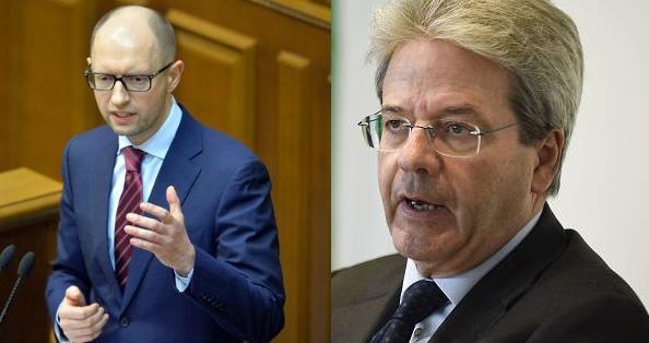 Арсений Яценюк и Паоло Джентилони обсудили реформы и перспективы сотрудничества