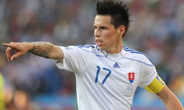 Капитан команды Марек Хамшик будет участвовать в контрольных поединках сборной Словакии против Швейцарии