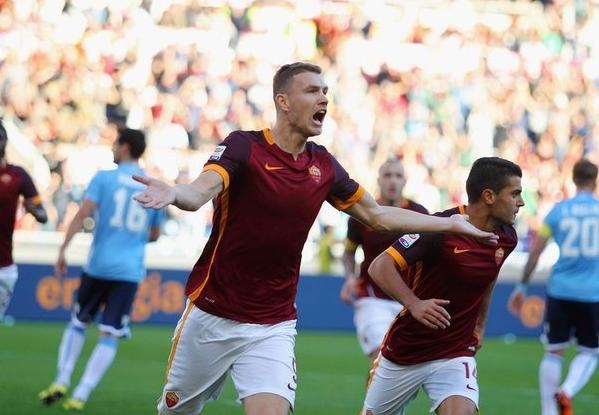 Первый гол «джалло-росси» забили со спорного пенальти, назначенного за снос Эдина Джеко