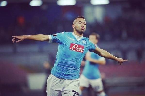 Свой дебютный гол за «Наполи» в Лиге Европы забил Омар Эль-Каддури