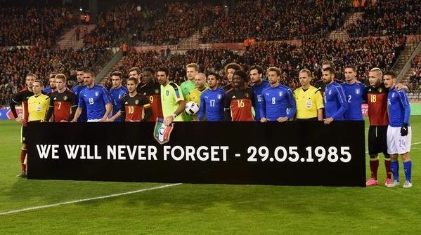 Поединок между сборными Бельгии и Италии был посвящен жертвам «Эйзельской трагедии»