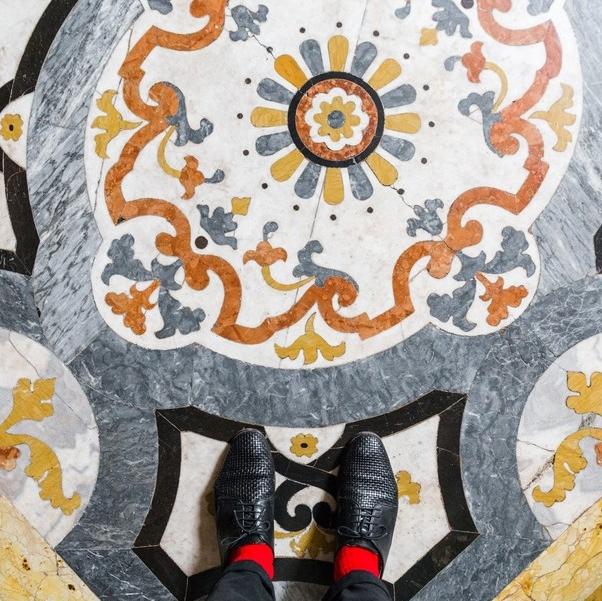 В Венеции фотографа вдохновляла потрясающая красота полов, расписанных узорами