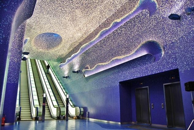Неапольская станция метрополитена стала самой красивой станцией в мире
