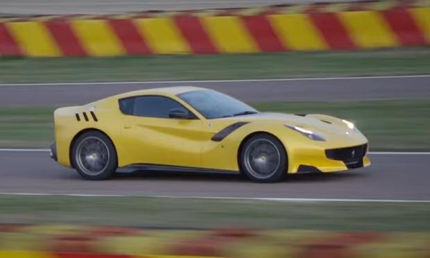 Видео-дебют новинки от Ferrari – спорткар F12tdf