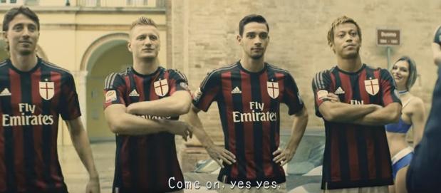 Рекламный ролик «Милана» на грани экшена и фола