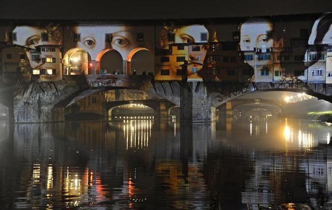 Флоренция. Рождественский Фестиваль огней на Понте Веккио