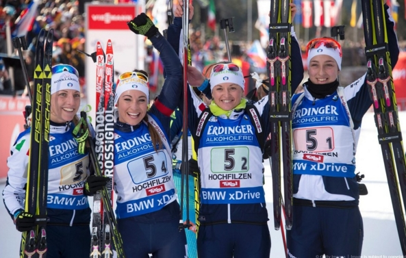 В индивидуальных гонках медалей добыть не удалось, но в эстафете пришел полный триумф.