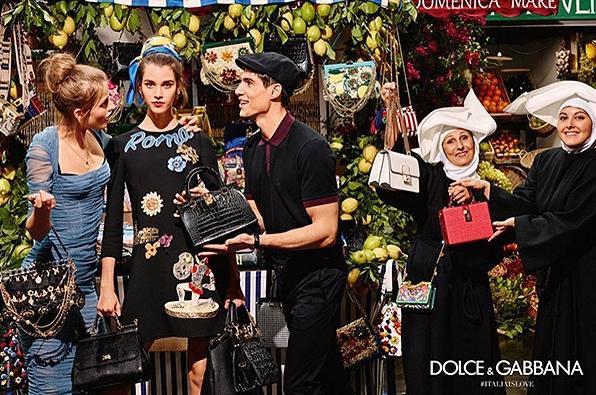 В съемках рекламной кампании новой коллекции весна-лето от итальянского модного дома Dolce & Gabbana