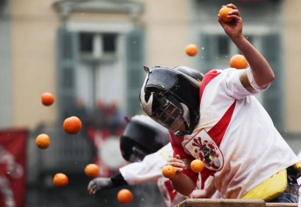 Ивреа. Сладкая битва апельсинов станет сюжетом видеоигры