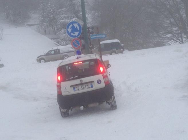 Сицилия, снег выпал в ночь на воскресенье